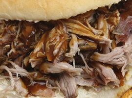 pulled pork from Foxholes Farm