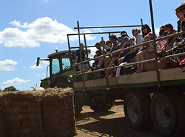 Family fun on board a tractor