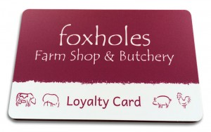 Foxholes Loyalty Card