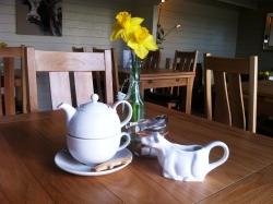 Inside the tea shop and tea rooms
